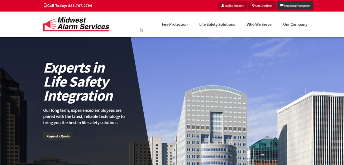 Midwest Alarm Services Launches New Website