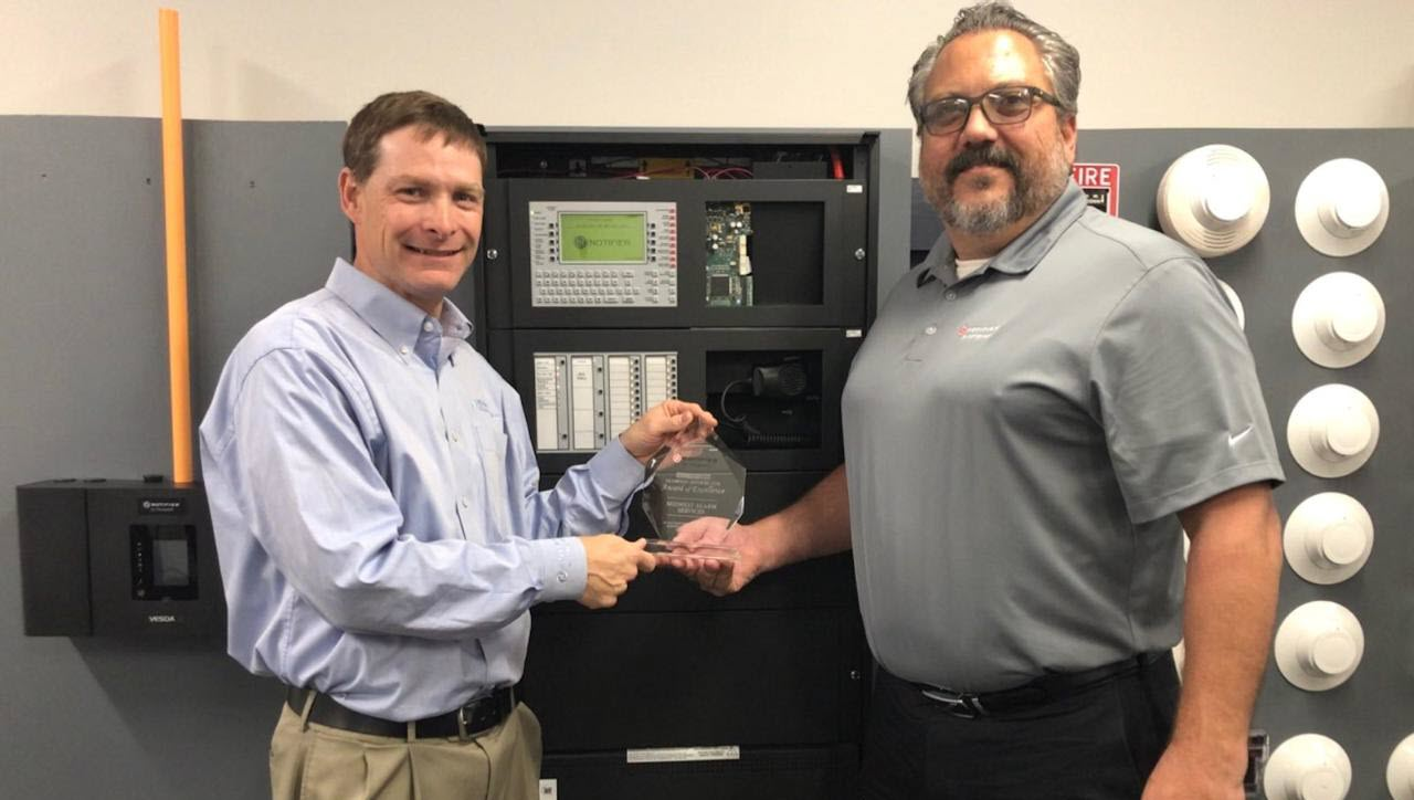 Midwest Alarm Services Receives Diamond Dealer Award